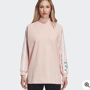 Adidas Love Set ribbed mock neck sweatshirt